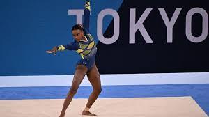 Rebeca  Andrade é medalha de  prata em Tóquio