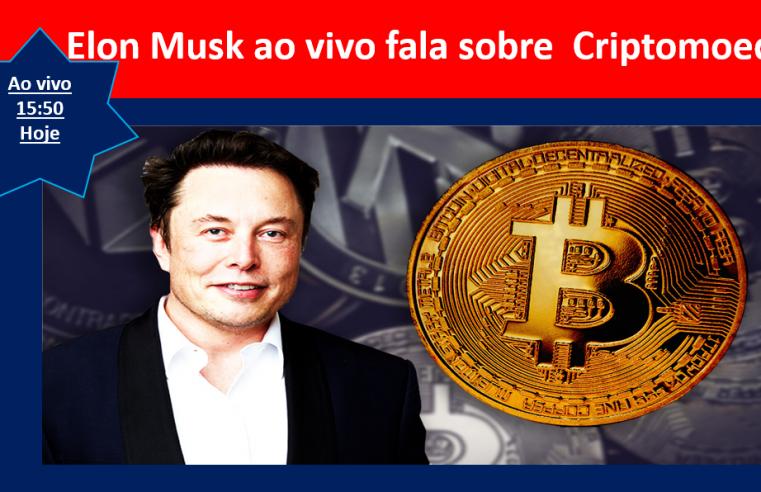 Elon Musk Fala sobre criptomoeda ao vivo hoje as 15:50