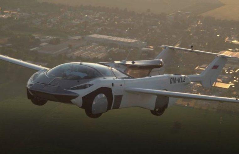 Carro voador faz voo de 35 minutos entre os aeroportos internacionais de Nitra e Bratislava, na Eslováquia.
