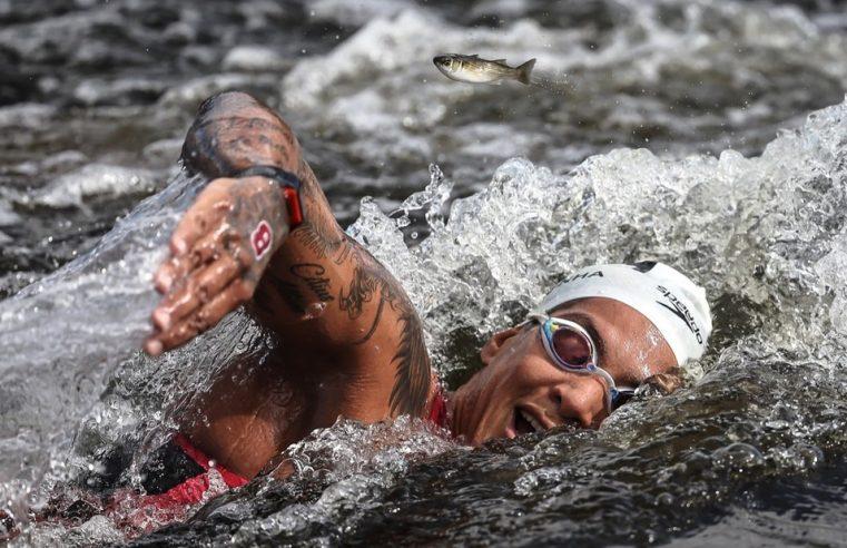 Peixe desviando da Ana Marcela pra não ser atropelado pelo ouro do Brasil