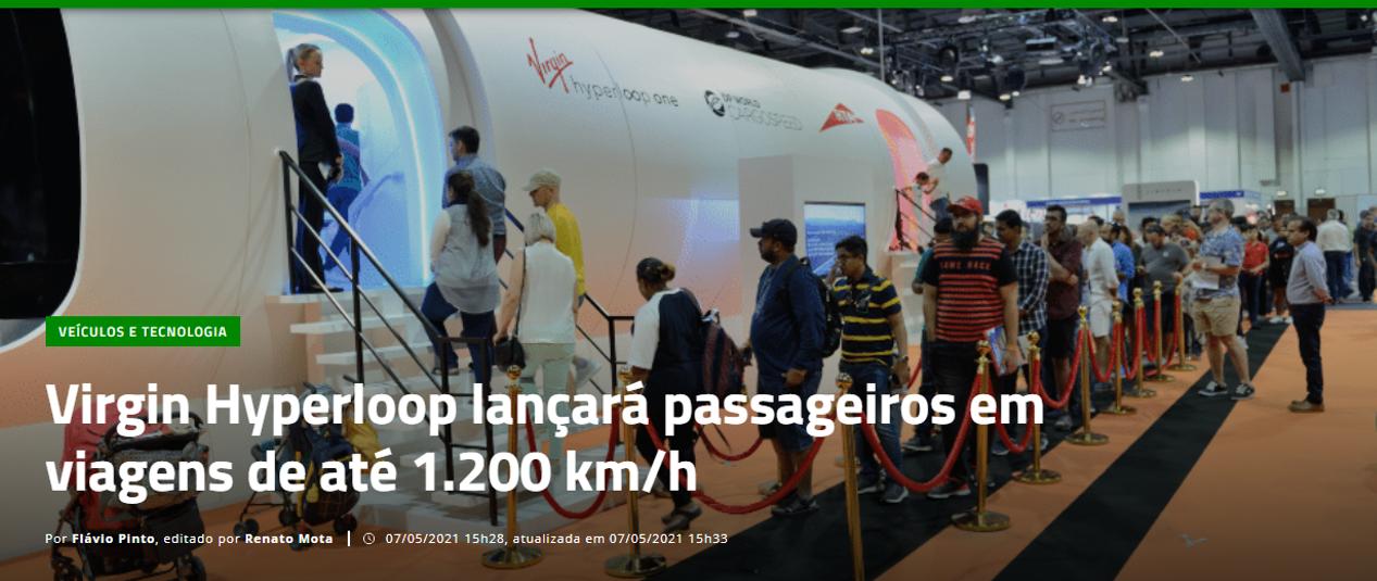 Hyperloop, Rio São Paulo em 10 minutos
