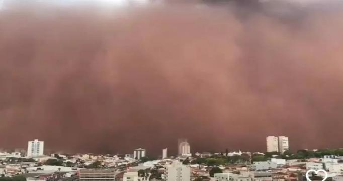 Tempestade de Areia assusta moradores de SP
